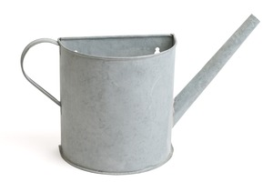 Aged Zinc Watering Can Planter