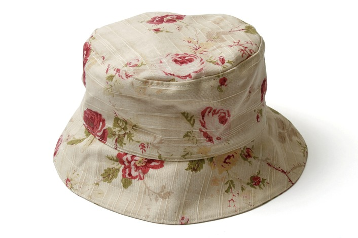 English Rose Linen Sun Hat