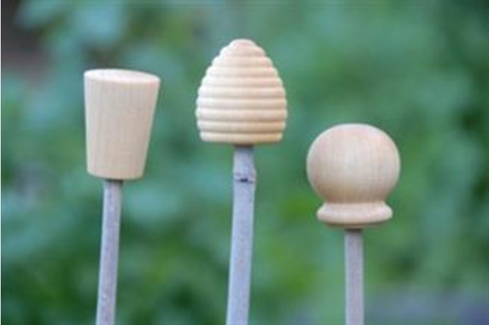 Wooden Cane Toppers - Pack of 3